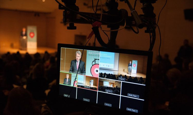"Ambassador Pyatt delivers remarks at the ""Museums and Tourism"" Conference, Benaki Museum (State Department Photo)"
