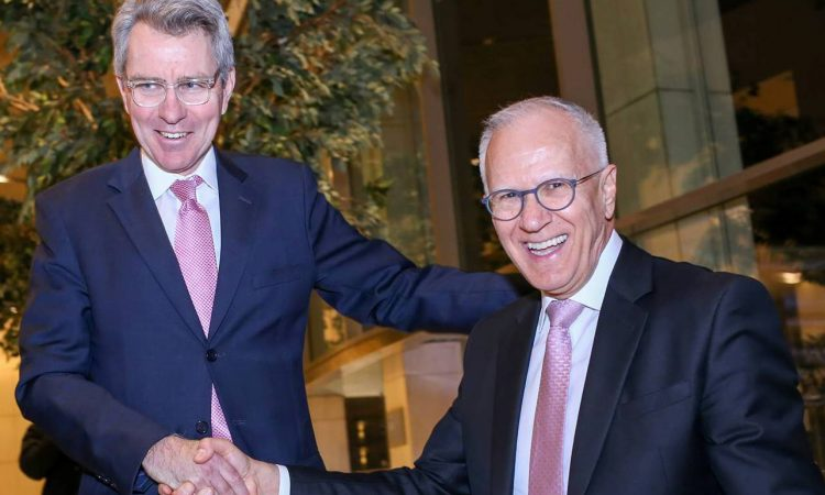 Ambassador Geoffrey Pyatt with Professor Linos (State Department Photo)