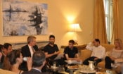 Ambassador Pyatt discusses with winners of Mindspace and MITEF. (State Department Photo)