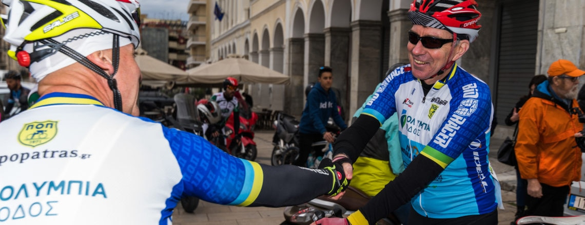 Ambassador Pyatt participates in Historic Cycling Tour in Patras