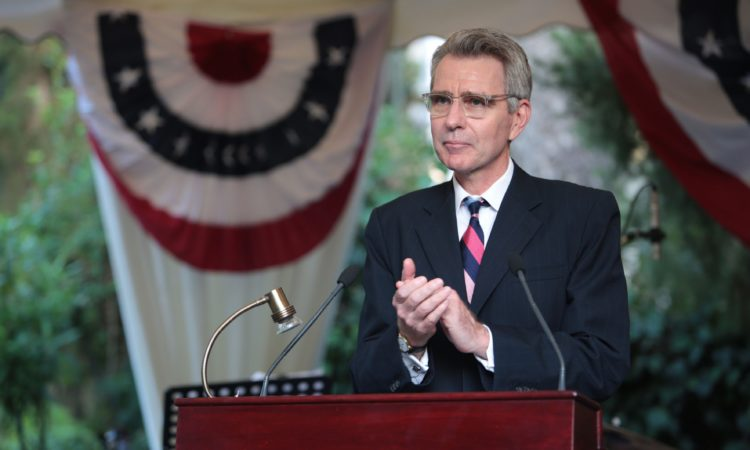 Ambassador Pyatt at 4th of July Celebration, July 3, 2018