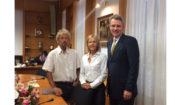 Ambassador Pyatt with Mayor of Livadeia Mr. Poulou and UNHCR Greece Mr. Tsambropoulos (Sta