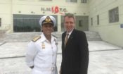 Ambassador Pyatt with the Commander of NMIOTC, Commodore Stelios Kostalas. (State Dept photo.)