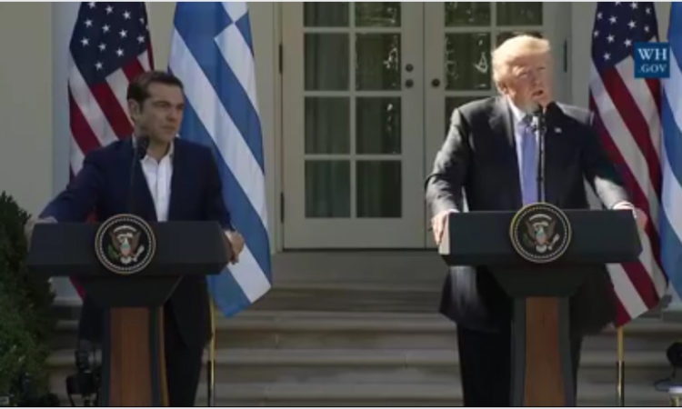 Joint Press Conference of President of the U.S. Donald Trump with Greek PM Alexis Tsipras